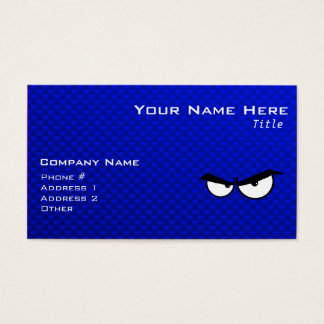 Angry Eyes; Blue Business Card