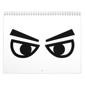 Angry eyes calendar