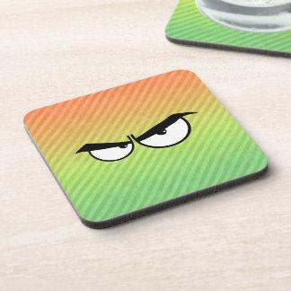 Angry Eyes design Beverage Coaster