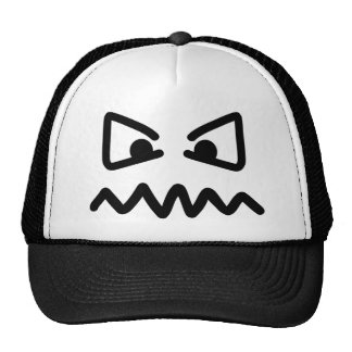 Angry eyes face trucker hat
