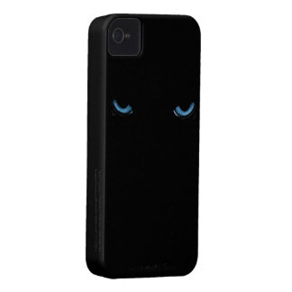 Angry Eyes Feline iPhone 4 Black Case iPhone 4 Cover
