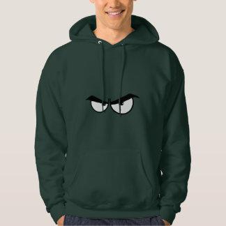 Angry Eyes; Green Hoodie