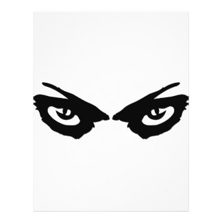 angry eyes icon flyer