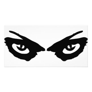 angry eyes icon photo card