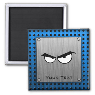 Angry Eyes; Metal-look 2 Inch Square Magnet