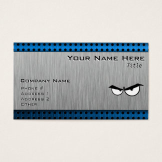 Angry Eyes; Metal-look Business Card