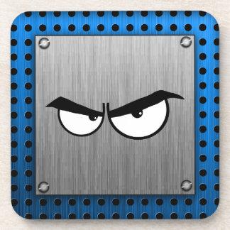 Angry Eyes; Metal-look Drink Coaster