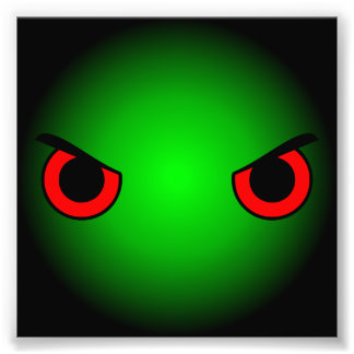 Angry Eyes Photo Print