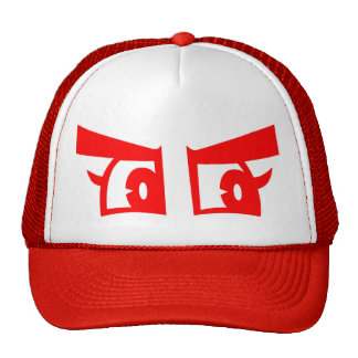 Angry eyes truckers hat