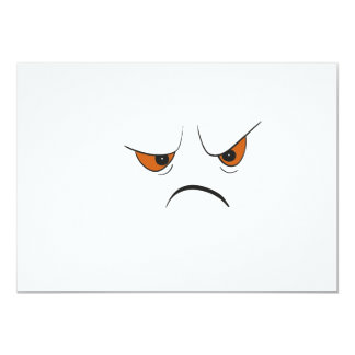 Angry Face Card