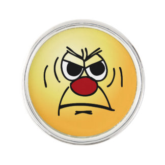 Angry Face: I hate working mandatory overtime Lapel Pin