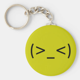 Angry Face (Japanese Smiley) Keychain