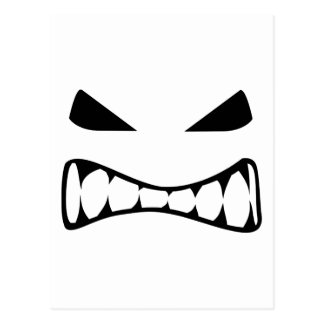 Angry face postcard