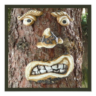 Angry Face Tree Card
