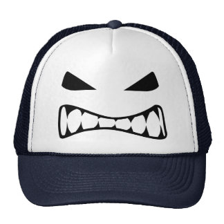 Angry face trucker hat