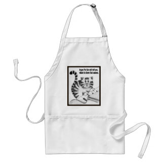Angry Fat Cat will tell you ....... Adult Apron