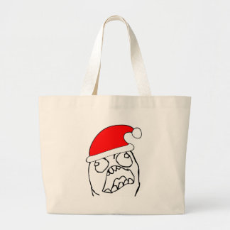 Angry FFFUUU xmas meme Canvas Bag