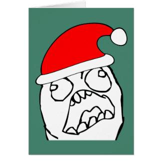 Angry FFFUUU xmas meme Card