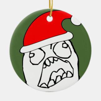 Angry FFFUUU xmas meme Ceramic Ornament
