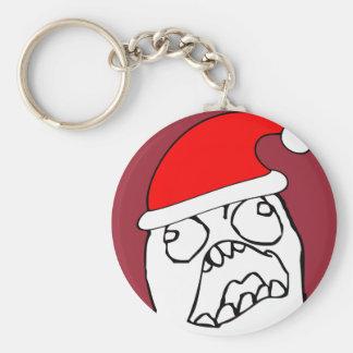 Angry FFFUUU xmas meme Keychains