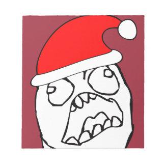 Angry FFFUUU xmas meme Memo Pads