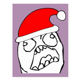 Angry FFFUUU xmas meme Postcard