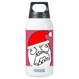 Angry FFFUUU xmas meme Thermos Water Bottle