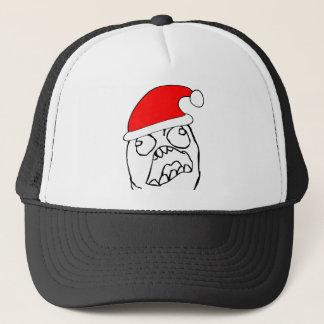 Angry FFFUUU xmas meme Trucker Hat