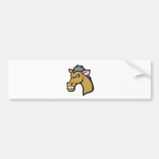Angry Fierce Cartoon Horse Bumper Sticker