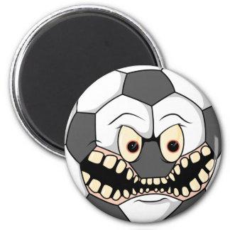 angry fierce soccer ball fridge magnets