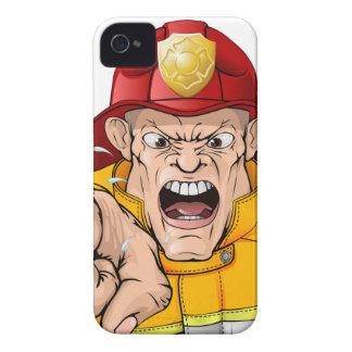 Angry fireman cartoon iPhone 4 cover