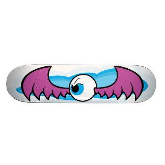 Angry Flying Eye Skateboard - Purple Wings