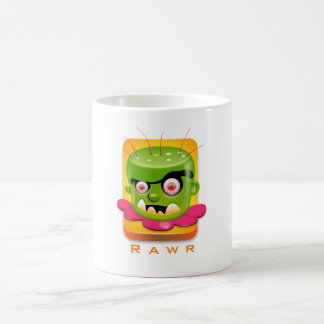 Angry Frankenstein Cartoon says rawr Coffee Mug