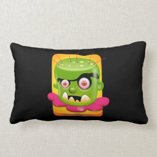 Angry Frankenstein Throw Pillow