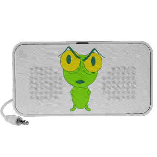 Angry frog cartoon travel speaker