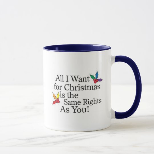 Angry Gay American Christmas Coffee Mug
