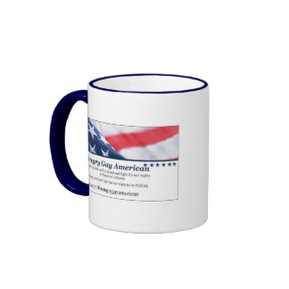 Angry Gay American Christmas Coffee Mug
