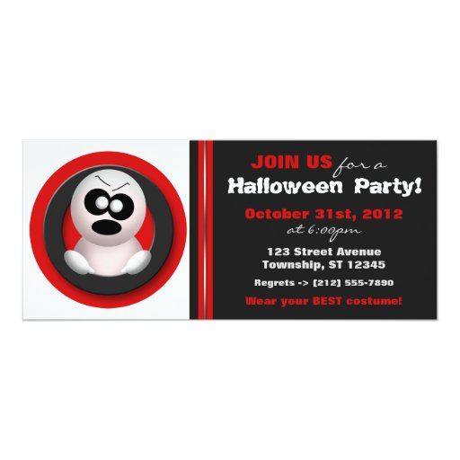 Angry Ghost - Halloween Party Invitations