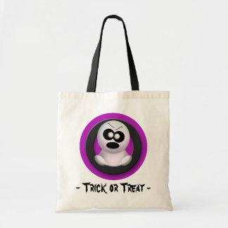 Angry Ghost - Purple Trick or Treat Halloween Bag