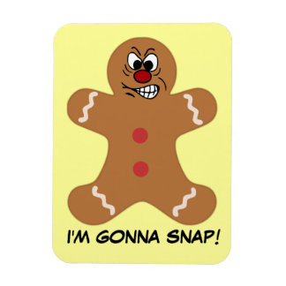 Angry Gingerbread Man Cookie Magnet
