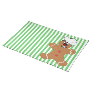 Angry Gingerbread Man Cookie Place Mats