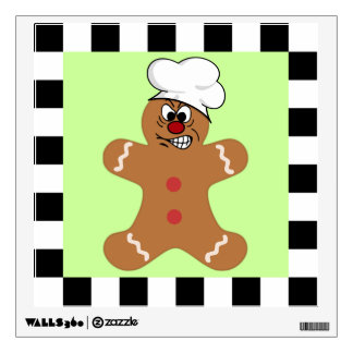 Angry Gingerbread Man Cookie Set Room Decal