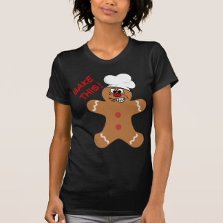Angry Gingerbread Man Cookie Tee Shirts