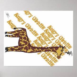 Angry Giraffe Poster