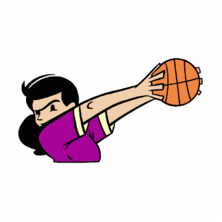 Angry girl basketball player acrylic cut outs