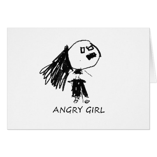 Angry Girl Card