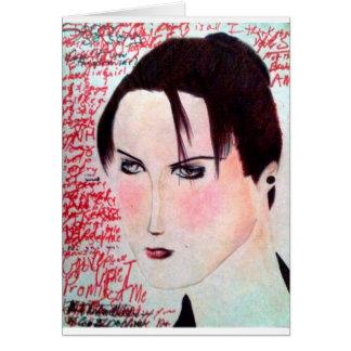 Angry Girl Card