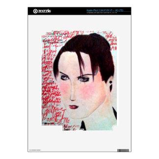 Angry Girl iPad 3 Skins