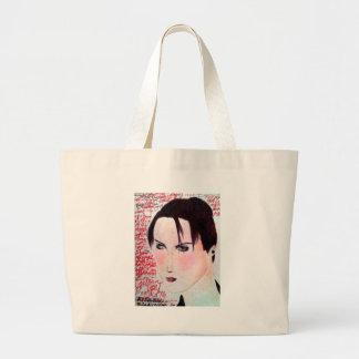 Angry Girl Large Tote Bag
