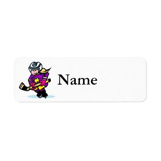 Angry girl player return address label